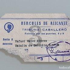 Coleccionismo deportivo: ANTIGUO ABONO CARNET DE SOCIO DEL HERCULES C.F ALICANTE 2ª DIVISION TEMPORADA 1972 TRIBUNA. Lote 268729189