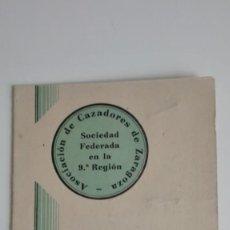 Coleccionismo deportivo: CARNET ASOCIACION CAZADORES ANTIGUO. Lote 268818754