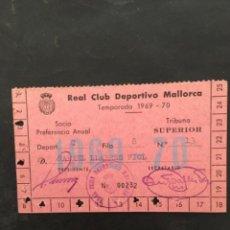 Coleccionismo deportivo: REAL CLUB DEPORTIVO MALLORCA TEMPORADA 1969 70, CARNET SOCIO PREFERENCIA ANUAL. Lote 268859364