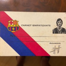 Collectionnisme sportif: CARNET SIMPATIZANTE DE JOHAN CRUYFF SIN USO NUEVO. Lote 268883709