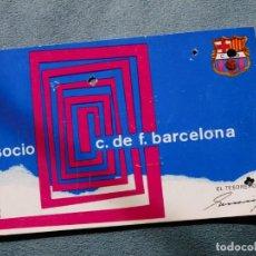 Coleccionismo deportivo: SOCIO F.C.BARCELONA SOCI 3ER TRIMESTRE1969. Lote 269053403