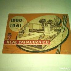 Collectionnisme sportif: ABONO Ó CARNET REAL ZARAGOZA FÚTBOL TEMPORADA 1960-61 JULIO-AGOSTO. Lote 269352133