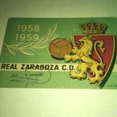 Coleccionismo deportivo: ABONO Ó CARNET REAL ZARAGOZA FÚTBOL TEMPORADA 1958-59 JULIO-AGOSTO. Lote 269352273