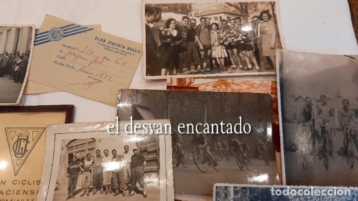 Coleccionismo deportivo: CLUB CICLISTA GRACIA. Barcelona. Interesante lote fotos-carnets-insignia-medallas... Años 30 a 80 - Foto 3 - 274237118
