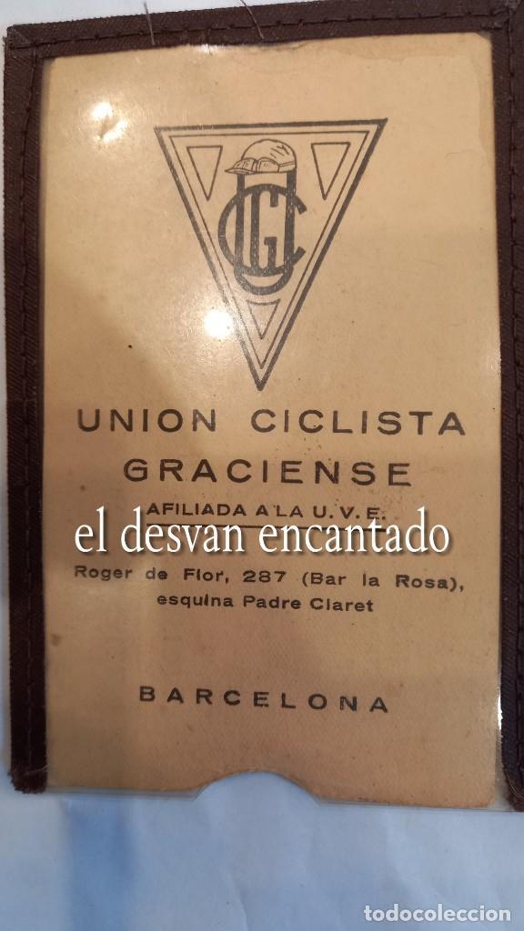 Coleccionismo deportivo: CLUB CICLISTA GRACIA. Barcelona. Interesante lote fotos-carnets-insignia-medallas... Años 30 a 80 - Foto 23 - 274237118