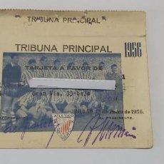 Coleccionismo deportivo: TARJETA SOCIO ATHETICO BILBAO 1956 TRIBUNA PRINCIPAL. Lote 274422523