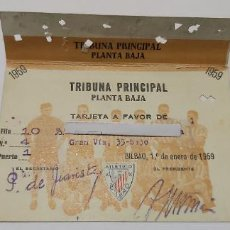 Coleccionismo deportivo: TARJETA SOCIO ATHETICO BILBAO 1959 TRIBUNA PRINCIPAL. Lote 274422653