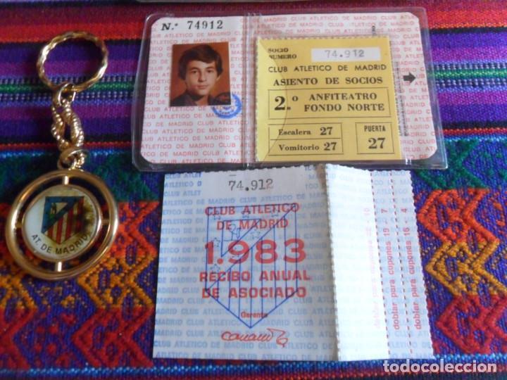 Coleccionismo deportivo: ATLÉTICO DE MADRID 1983 CARNET SOCIO RECIBO ANUAL DE ASOCIADO FUNDA PROTECTORA. REGALO LLAVERO. RARO - Foto 3 - 274847588
