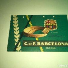 Coleccionismo deportivo: ABONO Ó CARNET BARCELONA CLUB FÚTBOL TEMPORADA 1959 SEGUNDO TRIMESTRE. Lote 275221148