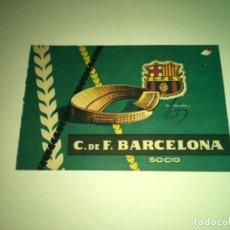 Coleccionismo deportivo: ABONO Ó CARNET BARCELONA CLUB FÚTBOL TEMPORADA 1959 CUARTO TRIMESTRE. Lote 275221378