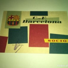 Coleccionismo deportivo: ABONO Ó CARNET BARCELONA CLUB FÚTBOL TEMPORADA 1960 TERCER TRIMESTRE. Lote 275221523