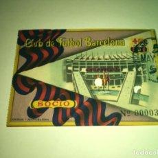 Coleccionismo deportivo: ENTRADA BARCELONA CLUB FÚTBOL AÑOS 1950'. Lote 275221688