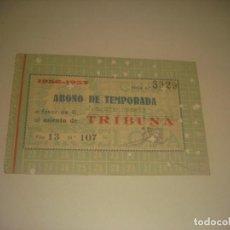 Coleccionismo deportivo: CARNET DE SOCIO ABONO TEMPORADA 1956 / 57 . CLUB DE FUTBOL BARCELONA. TRIBUNA PRINCIPAL DELANTERA.. Lote 275708728