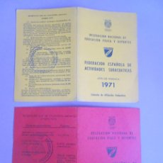 Coleccionismo deportivo: LOTE DE 2 CARNETS DESPLEGABLES FEDERACIÓN ESPAÑOLA DE ACTIVIDADES SUBACUÁTICAS 1971-1973, VER FOTOS. Lote 277062153