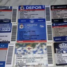 Coleccionismo deportivo: LOTE CARNETS DE SOCIO DEPORTIVO DE LA CORUÑA AÑOS 2011-2021. Lote 277536108
