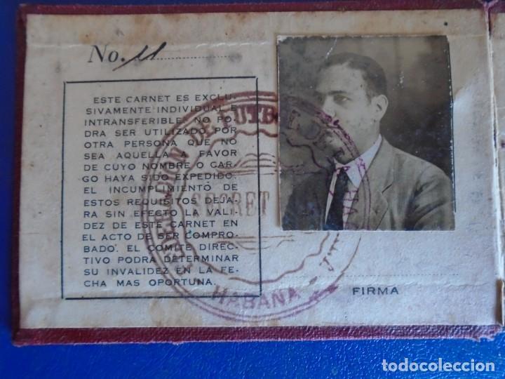 (F-210726)FEDERACION DE FUTBOL DE LA HABANA (CUBA)AÑO 1933 (Coleccionismo Deportivo - Documentos de Deportes - Carnet de Socios)