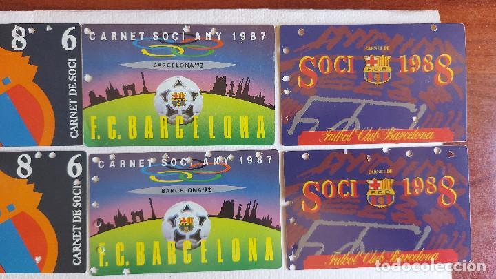 Coleccionismo deportivo: U-58.- LOTE DE -- 16 CARNETS.- F.C.BARCELONA.- SOCI.- VARIOS AÑOS , HAY 2 DE CADA AÑO.- VER FOTOS - Foto 3 - 277602913
