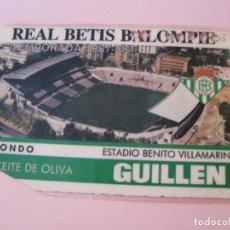 Coleccionismo deportivo: CARNET DE SOCIO. REAL BETIS BALOMPIE. TEMPORADA 1987-88.. Lote 278200828