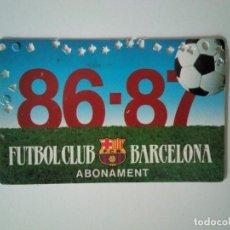 Coleccionismo deportivo: CARNET SOCIO FÚTBOL CLUB BARCELONA 1986-1987. Lote 278399608