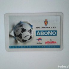 Coleccionismo deportivo: CARNET REAL ZARAGOZA TEMPORADA 1996-97. Lote 278400378
