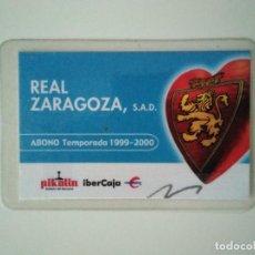 Coleccionismo deportivo: CARNET REAL ZARAGOZA TEMPORADA 1999-2000. Lote 278400463