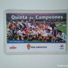 Coleccionismo deportivo: CARNET REAL ZARAGOZA TEMPORADA 2001-2002. Lote 278400663