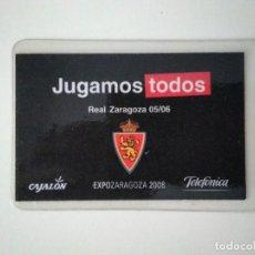 Coleccionismo deportivo: CARNET REAL ZARAGOZA TEMPORADA 2005-06. Lote 278400863