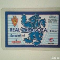 Coleccionismo deportivo: ABONO REAL ZARAGOZA TEMPORADA 2000-2001. Lote 278401303