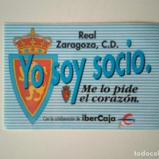 Coleccionismo deportivo: ABONO REAL ZARAGOZA TEMPORADA 1991-1992. Lote 278401428