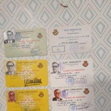 Coleccionismo deportivo: 9 CARNETS DE DIRECTIVO CLUB GIMNASTICO TARRAGONA. Lote 278488473