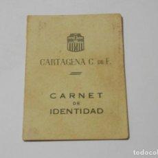 Collezionismo sportivo: CARNET 1946, CARTAGENA CLUB DE FUTBOL. Lote 285172858