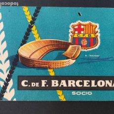 Coleccionismo deportivo: CARNET DE SOCIO DEL FUTBOL CLUB BARCELONA - AÑO 1959. Lote 286404973