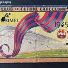Coleccionismo deportivo: CARNET DE SOCIO DEL FUTBOL CLUB BARCELONA - AÑO 1949. Lote 286406093