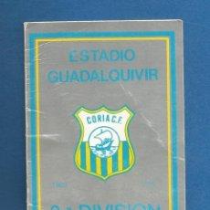 Collezionismo sportivo: CARNET FUTBOL TEMPORADA 1990-91 CORIA DEL RIO (SEVILLA). Lote 287061408