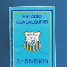 Collezionismo sportivo: CARNET FUTBOL NUMERARIO TEMPORADA 1991-92 CORIA DEL RIO (SEVILLA). Lote 287061513