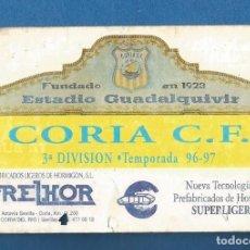 Collezionismo sportivo: CARNET FUTBOL NUMERARIO PROTECTOR TEMPORADA 96-97 CORIA DEL RIO (SEVILLA). Lote 287068333