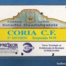 Collezionismo sportivo: CARNET DE FUTBOL COLABORADOR NUMERARIO TEMPORADA 94-95 CORIA DEL RIO (SEVILLA). Lote 287068843