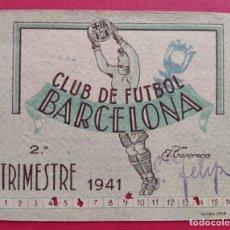 Coleccionismo deportivo: F.C. BARCELONA FÚTBOL CARNET BARÇA 1941. Lote 287732073