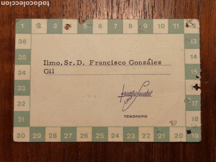 Coleccionismo deportivo: CARNET SOCIO RCD ESPAÑOL. TRIBUNA. 1971. - Foto 2 - 287935273