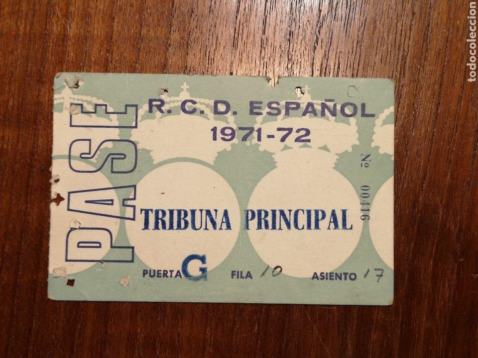 CARNET SOCIO RCD ESPAÑOL. TRIBUNA. 1971. (Coleccionismo Deportivo - Documentos de Deportes - Carnet de Socios)