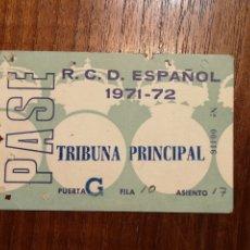 Coleccionismo deportivo: CARNET SOCIO RCD ESPAÑOL. TRIBUNA. 1971.. Lote 287935273