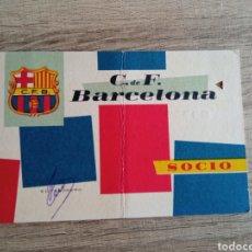 Coleccionismo deportivo: CARNET SOCIO FC BARCELONA 1960. BARÇA.FUTBOL.LIGA.DEPORTE.RCD ESPANYOL.R. MADRID.LFP.RFEF.OLIMPIADAS. Lote 289850173