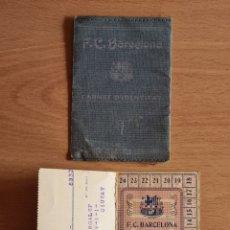 Coleccionismo deportivo: ANTIGUO CARNET IDENTITAT FC BARCELONA 1927 SELLO FIRMAS PRESIDENT BALAGUER - FUTBOL CATALÀ BARÇA. Lote 292334293