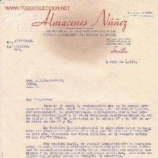 Cartas comerciais: CARTA COMERCIAL DE ALMACENES NUÑEZ.SEVILLA. Lote 849266