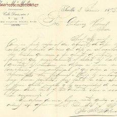 Cartas comerciales: CARTA COMERCIAL DE JOSÉ Mª. MOLINA. SEVILLA, 1893. Lote 857091