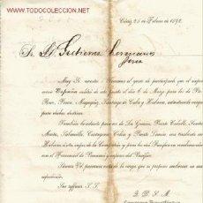 Cartas comerciales: CIRCULAR (CARTA COMERCIAL) DE LA COMPAÑIA TRASATLANTICA, DELEGACION DE CADIZ. Lote 7991578