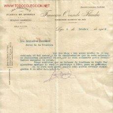 Lettres commerciales: CARTA COMERCIAL DE FRANCISCO OVANDO FLANDES-EXPORTADOR DE FRUTOS DEL PAIS.LEPE.HUELVA. Lote 8590530
