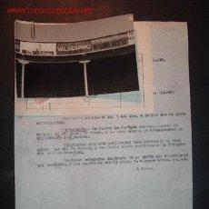 Cartas comerciales: CARTA COMERCIAL +FACTURA+ FOTOGRAFIA DE COMO HA QUEDADO UN ANUNCIO EN LA PLAZA DE TOROS DE VITORIA. Lote 21785827