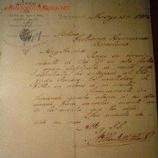Cartas comerciales: CARTA COMERCIAL DE J.A WITHER & CO..GUAYAQUIL.ECUADOR 1902. Lote 234974225