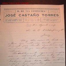 Cartas comerciales: CARTA COMERCIAL DE JOSE CASTAÑO TORRES.ALICANTE. Lote 686566